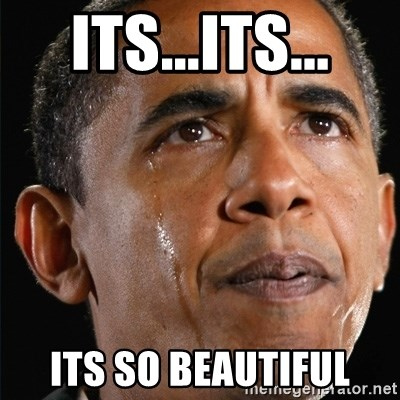 Obama Crying - its...its... its so beautiful