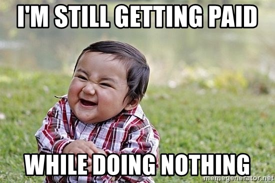 Evil Asian Baby - I'M STILL GETTING PAID WHILE DOING NOTHING