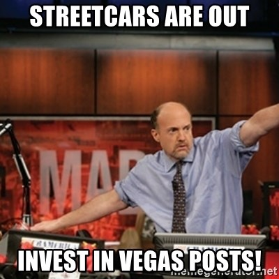 Jim Kramer Mad Money Karma - Streetcars are out invest in vegas posts!