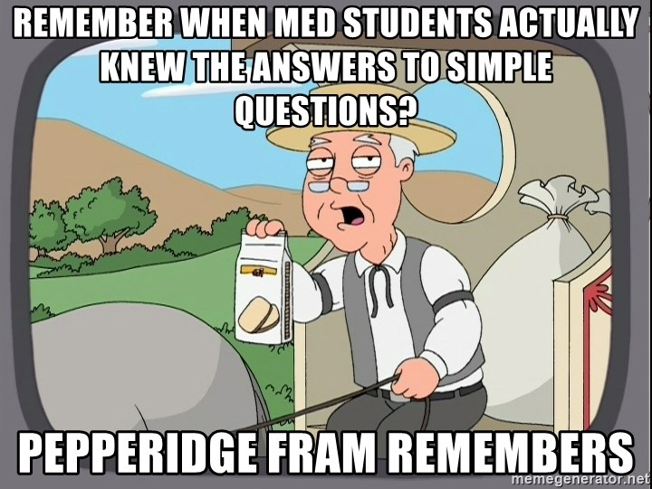 Family Guy Pepperidge Farm - Remember when Med students actually knew the answers to simple questions? Pepperidge Fram remembers