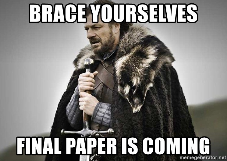 brace yourselves the purple is coming - Brace Yourselves Final Paper is coming