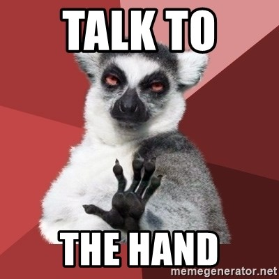 Chill Out Lemur - Talk to  the hand