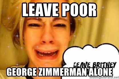 leave britney alone - leave poor  george zimmerman alone