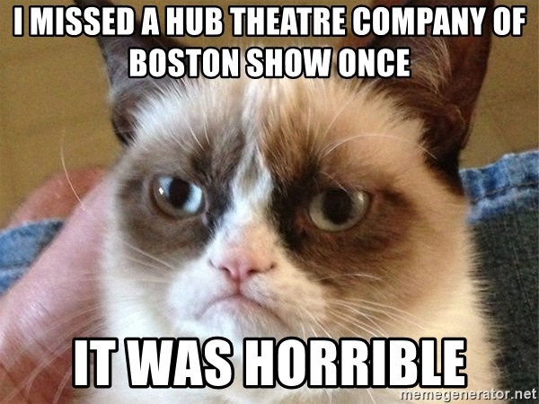 Angry Cat Meme - I missed a Hub Theatre Company of Boston Show once It was horrible