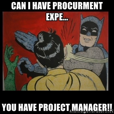Batman Slappp - can i have procurment expe... you have project manager!!