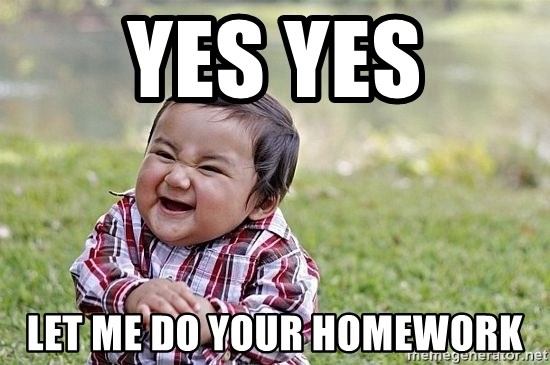 Evil Asian Baby - YES YES Let me do your homework