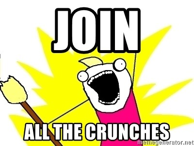 X ALL THE THINGS - join all the crunches