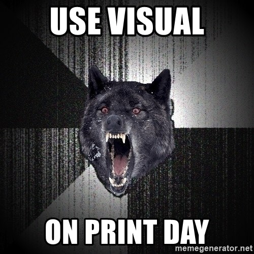 Insanity Wolf - USE VISUAL ON PRINT DAY