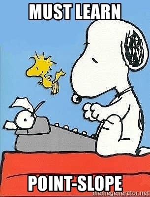 Snoopy - must learn point-slope
