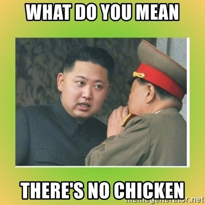 kim joung - What do you mean there's no chicken