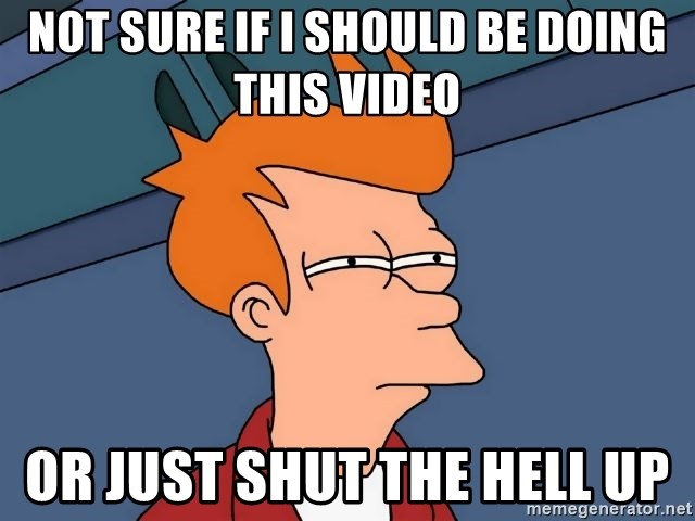 Futurama Fry - NOT SURE IF I SHOULD BE DOING THIS VIDEO OR JUST SHUT THE HELL UP