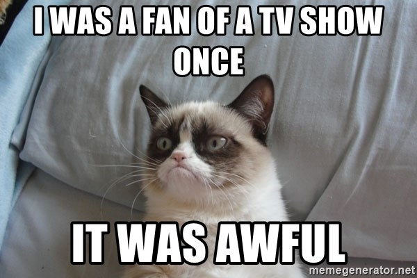 Grumpy cat good - i was a fan of a tv show once it was awful