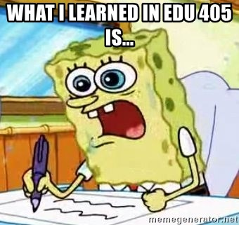 Spongebob What I Learned In Boating School Is - What i learned in EdU 405 is...