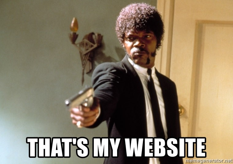 Samuel L Jackson -  that's MY website