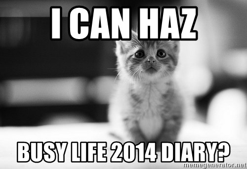 I can haz results nao? - I can haz busy life 2014 diary?