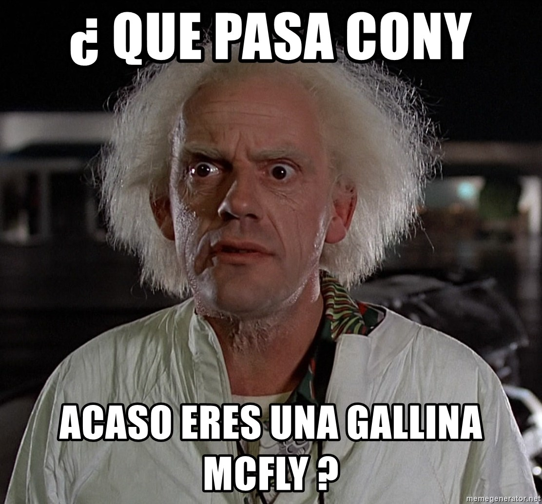 Resultado de imagen para GALLINA BACK TO THE FUTURE