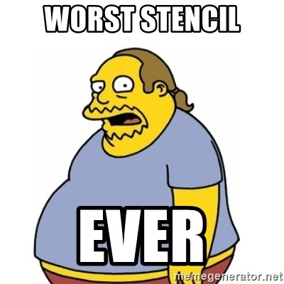 Comic Book Guy Worst Ever - WORST STENCIL EVER