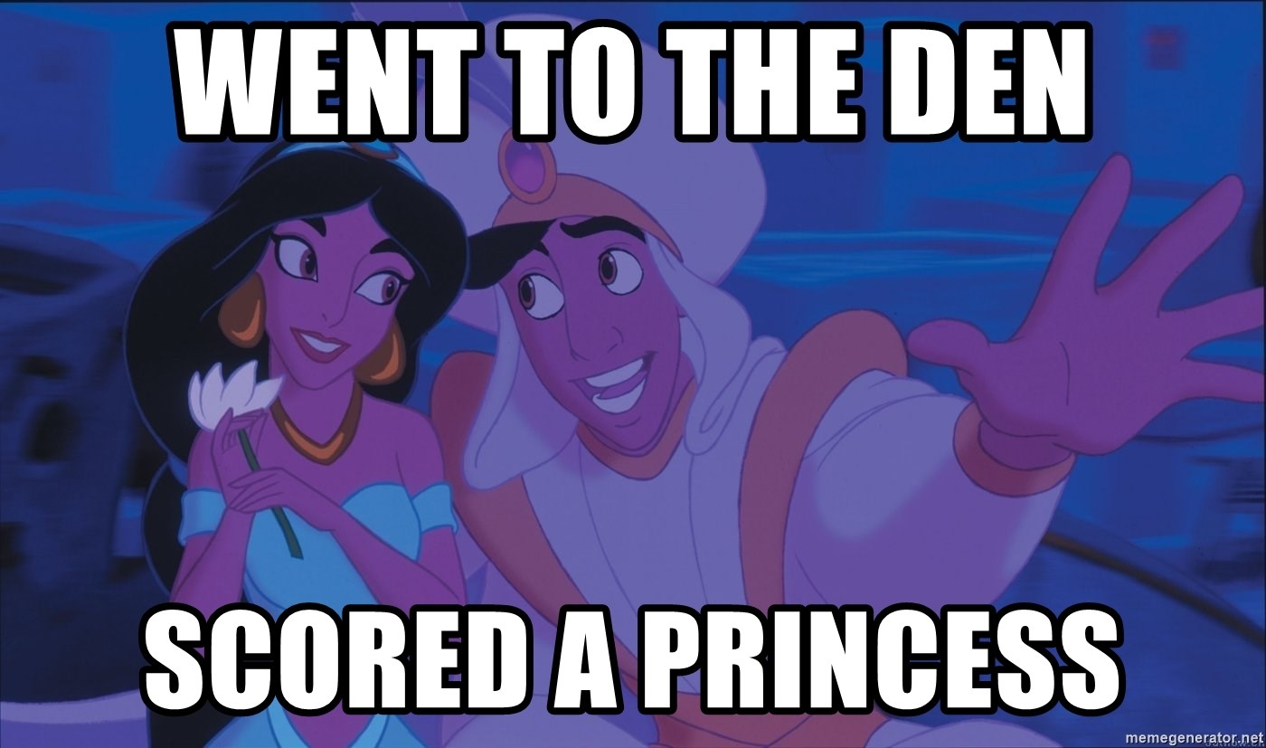 Aladdin and Jasmine - Went to The Den Scored a Princess