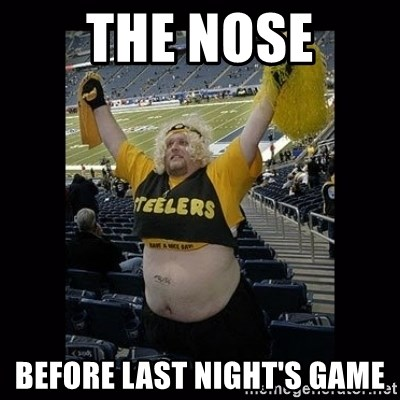 Dumb Steelers Fan - The nose Before last night's game