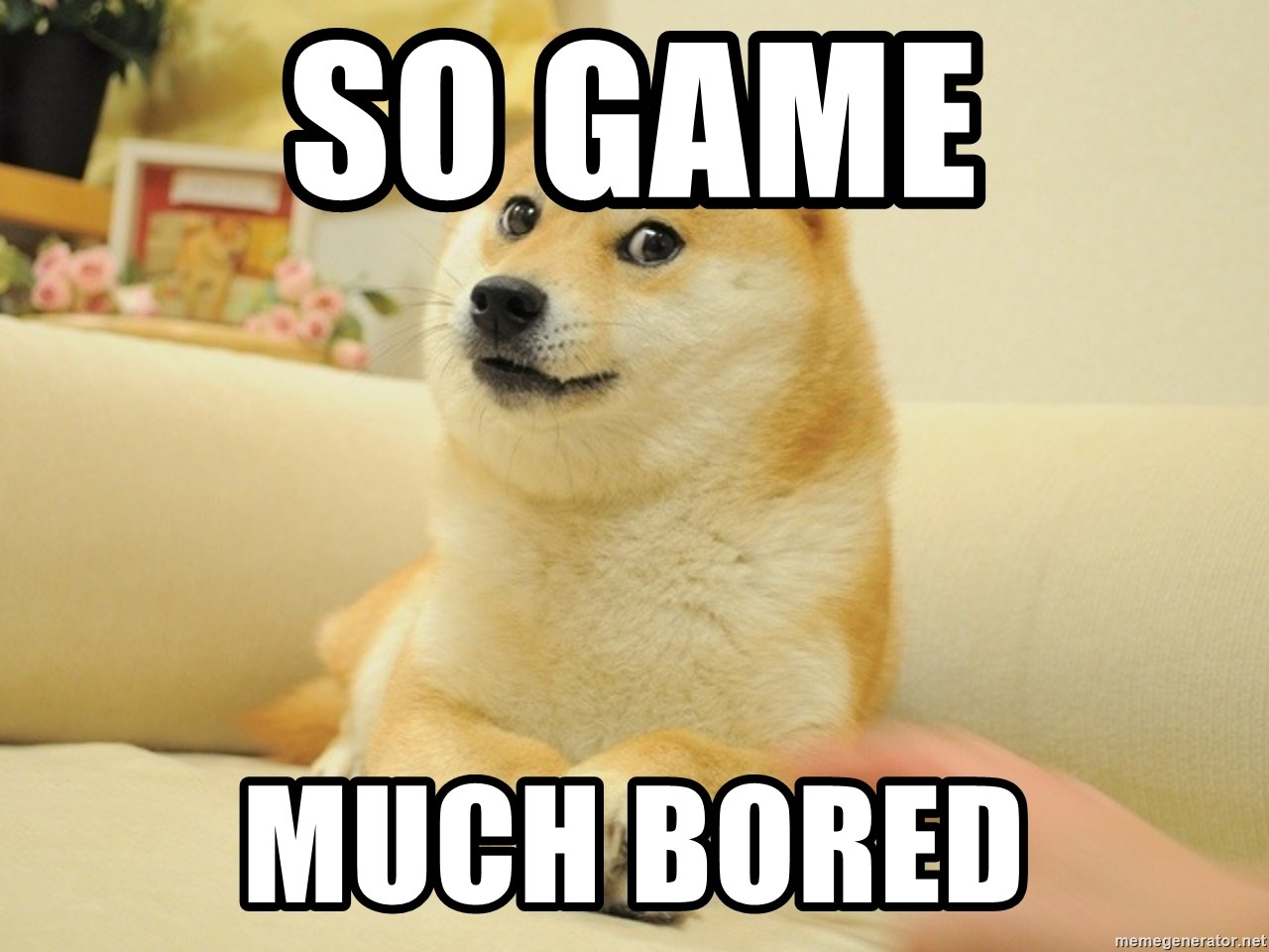 So Game Much Bored So Doge Meme Generator