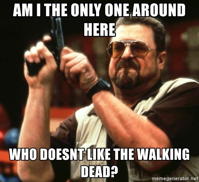 AM I THE ONLY ONE AROUND HER - am i the only one around here  who doesnt like the walking dead?