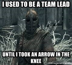 Arrow to the Knee Skyrim - I used to be a team lead Until i took an arrow in the knee
