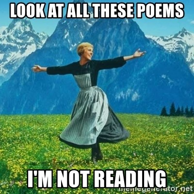 Look at All the Fucks I Give - Look at all these poems I'm not reading