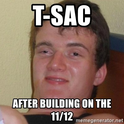 Stoner Stanley - T-Sac After Building on the 11/12