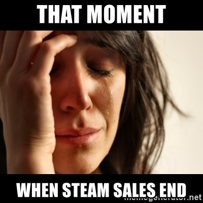 crying girl sad - that moment when steam sales end