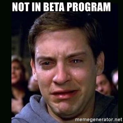 crying peter parker - not in beta program