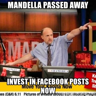 Karma Cramer - Mandella passed away invest in facebook posts now