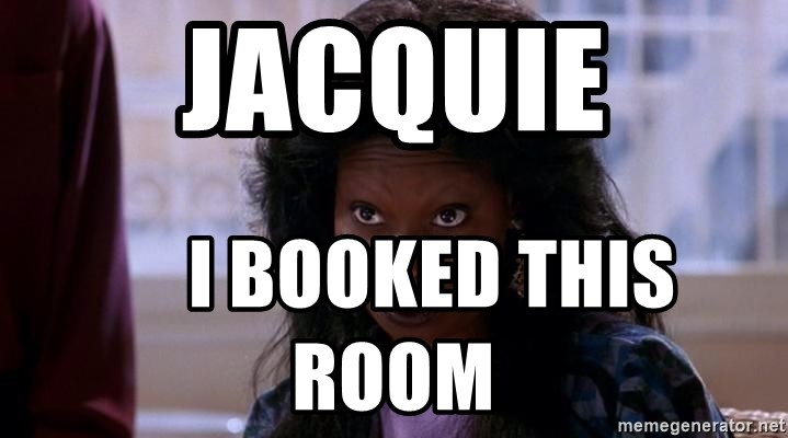 Ghost Whoopi - jacquie      i booked this room