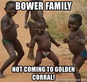 african children dancing - bower family not coming to golden corral!