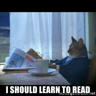I should buy a boat -  I should Learn to read