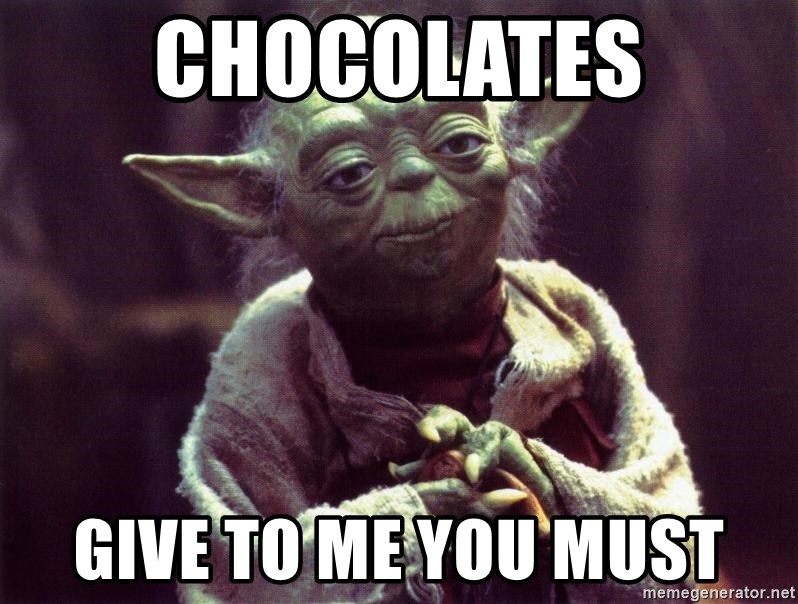 Yoda - Chocolates give to me you must