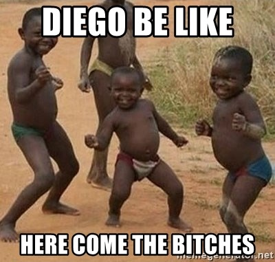Dancing African Kid - Diego Be like  here come the Bitches