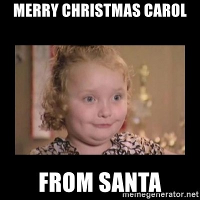 Honey BooBoo - Merry Christmas Carol From Santa