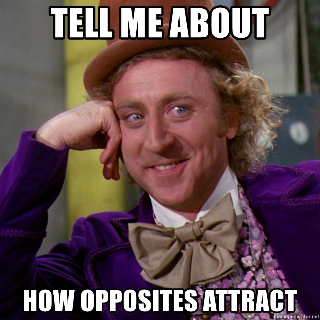 Willy Wonka - Tell me about how opposites attract