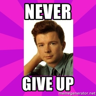 RIck Astley - NEVER GIVE UP