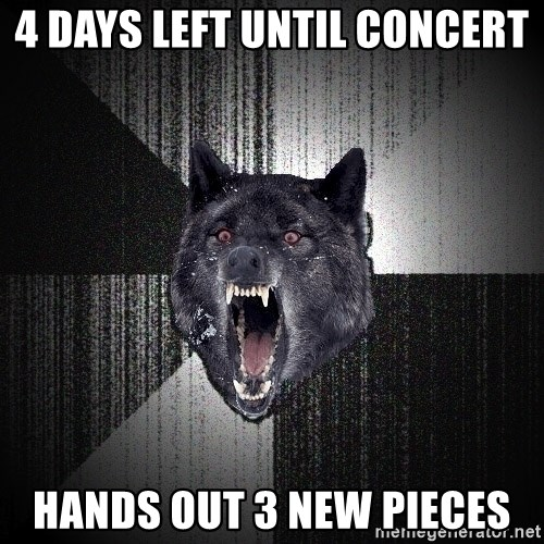 Insanity Wolf - 4 days left until concert hands out 3 new pieces