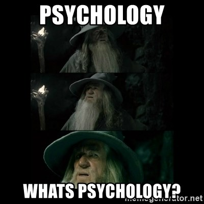 Confused Gandalf - psychology whats psychology?