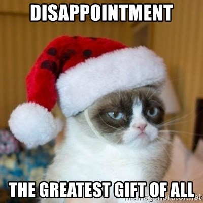 Grumpy Cat Santa Hat - Disappointment The Greatest Gift of All