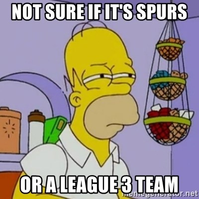 Simpsons' Homer - Not sure if it's spurs or a league 3 team
