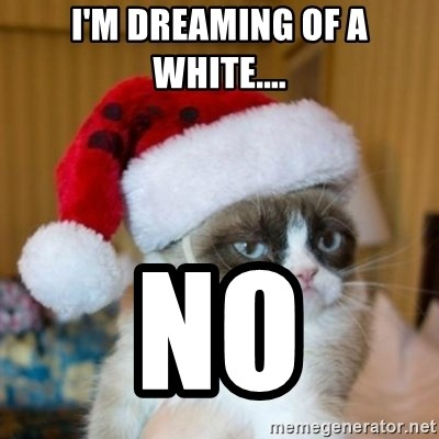 Grumpy Cat Santa Hat - I'm dreaming of a white.... NO