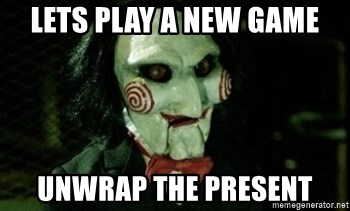 Jigsaw 12 - lets play a new game unwrap the present