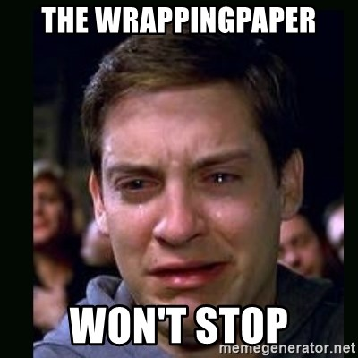 crying peter parker - THE WRAPPINGPAPER WON'T STOP