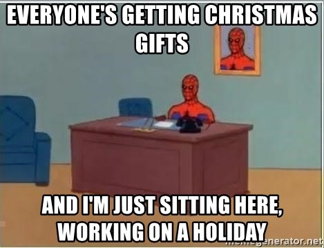 Spiderman Desk - everyone's getting christmas gifts and i'm just sitting here, working on a holiday