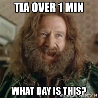 What Year - TIA over 1 min What day is this?