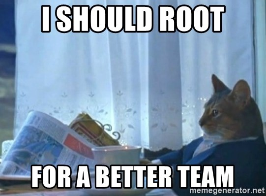 newspaper cat realization - I should root for a better team