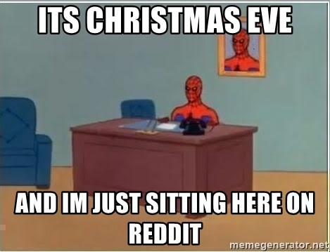 Spiderman Desk - Its christmas eve AND IM JUST SITTING HERE ON REDDIT
